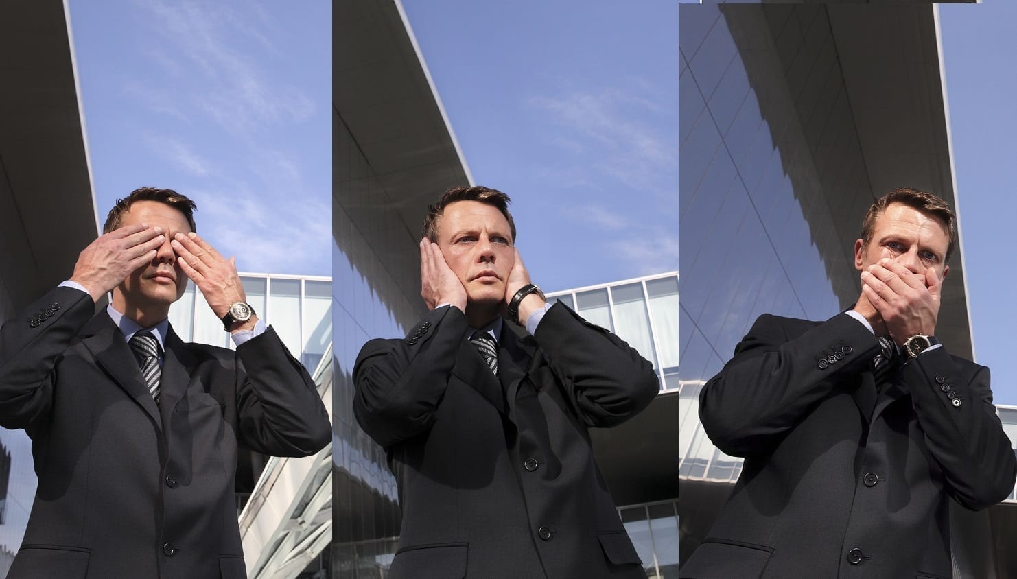 See no evil, hear no evil, speak no evil business man: ID 46305609 © Visivasnc | Dreamstime.com