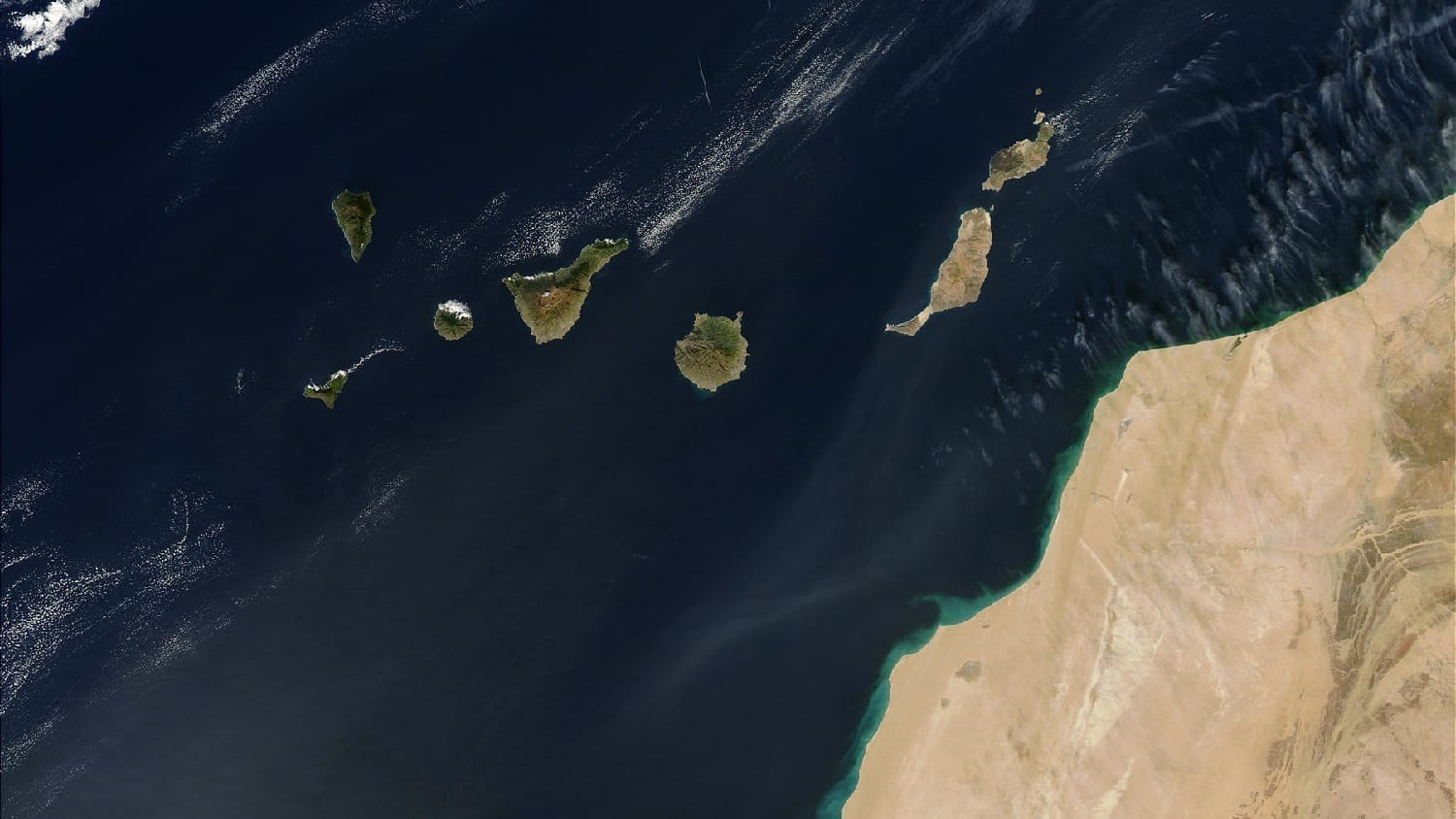 Canary Islands from space, photo credit: NASA