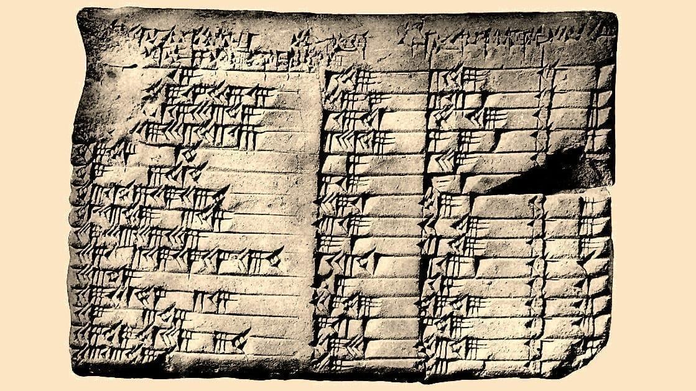 Plimpton 322 clay tablet