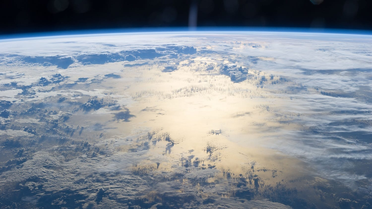 South Pacific Ocean with cloud cover from the ISS