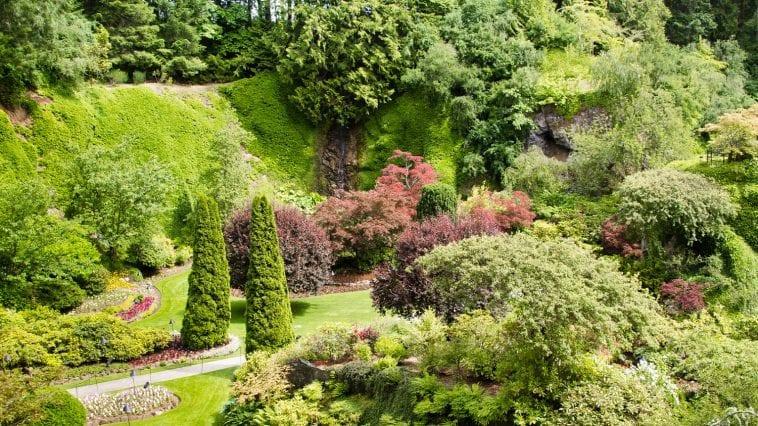Buchart Gardens quarry: Photo 28828804 / Botanical Garden © Meisterphotos | Dreamstime.com