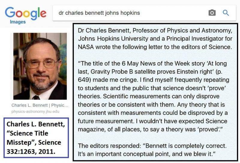 Dr. Charles Bennett quotation