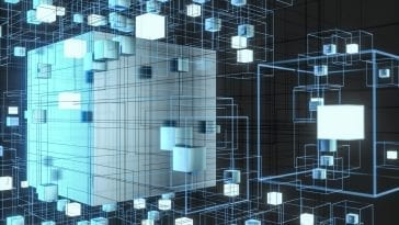 CG illustration of 3D cubes connected with cubic lines: Illustration 161461106 / 3d © Jian Fan | Dreamstime.com