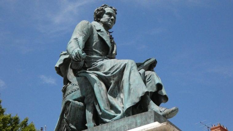 Statue of Ampère at Lyon, France