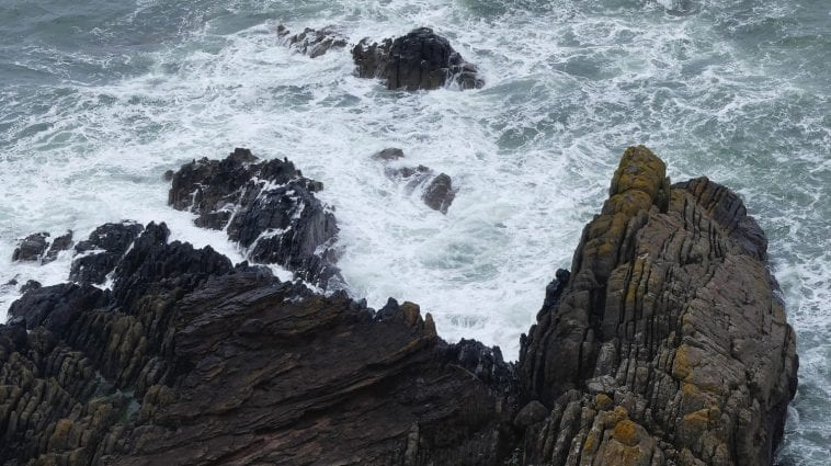 Siccar Point, Scotland, famous for Hutton's use of its layers to demonstrate his uniformatarian beliefs: Photo 145220777 © Cailean Weber | Dreamstime.com
