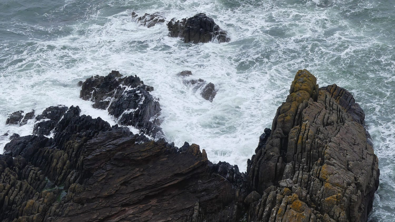 Siccar Point, Scotland, famous for Hutton's use of its layers to demonstrate his uniformatarian beliefs: Photo 145220777 © Cailean Weber   Dreamstime.com