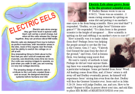 Electric Eel and Jesus is the Greatest Scientist meme