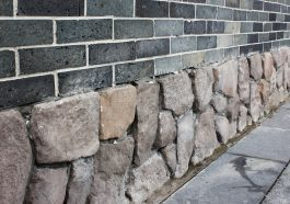 Stone foundation with bricks above: Photo 30991936 © Happyboy2003 | Dreamstime.com